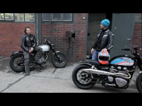 JVB Brit Bob Triumph Thruxton first ride