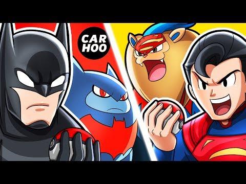 What If Batman & Superman Were Pokemon Trainers 【 DC Superheroes Parody 】