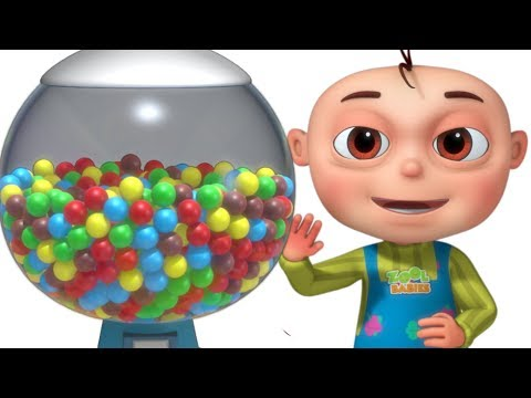 Five Little Babies Learning Colors Using Ball Machine (Single) | Zool Babies Fun Songs