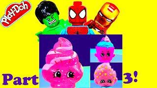 SPIDER MAN Marvel Shopkins Surprise-Frozen Fractal LEGOS Part 3!