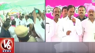 CM KCR Lays Foundation Stone For Double Bedroom Houses In Palakurthi | Jangaon