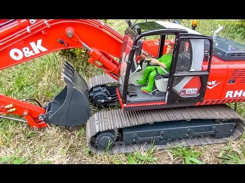 BIG RC Excavator Action! Caterpillar, Liebherr & Co working hard!