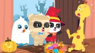 Let's Go Trick or Treating   Baby Panda's Naughty Halloween Night   Halloween Songs   BabyBus
