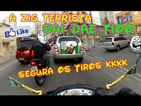 Zig100cc Black-a Terrorista Do Youtube-  ESCAPE PROTORK BERRANDO MUITO E VARIOS TIROS KKKK SE É LOKO