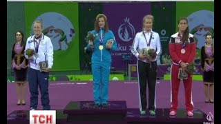 Перше золото для України на Європейських іграх у Баку здобула борчиня Аліна Стадник-Махиня - (видео)