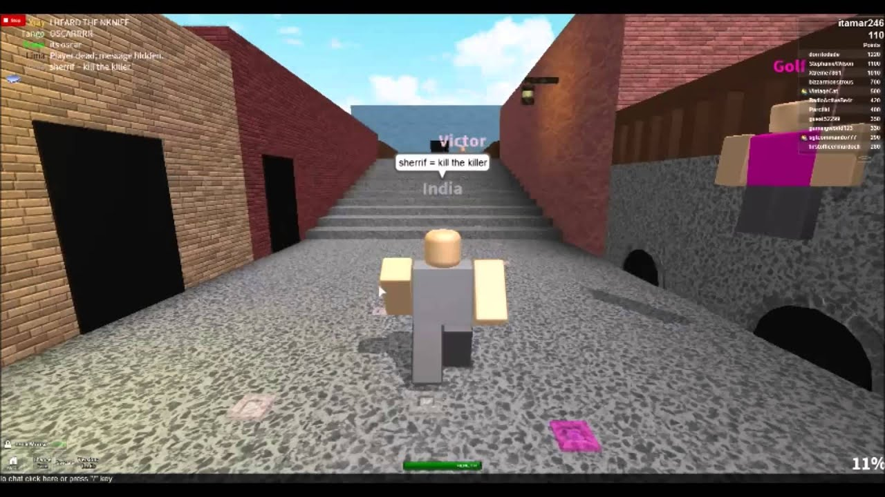 Roblox Gameplay Murder Mystery YouTube