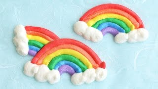 Rainbow Meringue Cookies DIY Rainbow Treats 무지개 머랭 쿠키