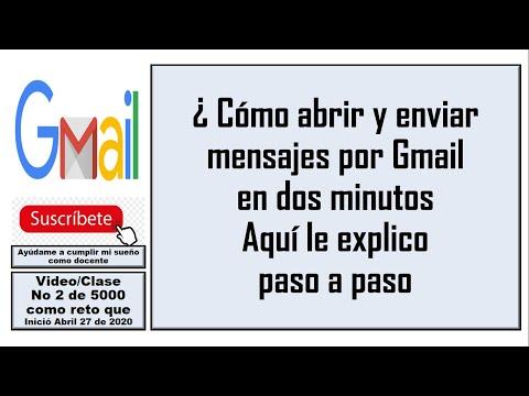gmail: como enviar y leer un correo VIDEO 2