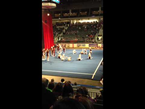 Genevieve's Cheerleading Competition with the Regiopolis Notre Dame Catholic High School - 02/05/2012