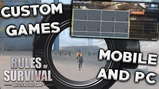 CUSTOM MOBILE AND PC GAMES WITH YOUTUBERS AND SUBS IN RULES OF SURVIVAL!!