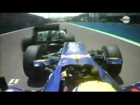 F1 2010 Europe Grand Prix - Big crash Mark Webber's flying car