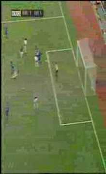 EVERTON leon osman picks his spot beautifully to make it 1-1