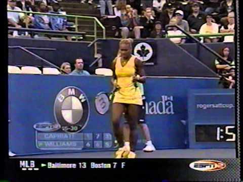 2001 Rogers Cup final: Serena d Capriati (final game)