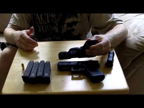 Glock 23 gen4 and Ruger SR9c quick comparison