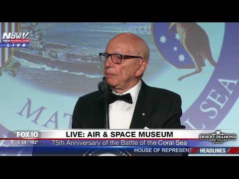 WATCH: Rupert Murdoch Introduces President Donald Trump In New York (FNN)