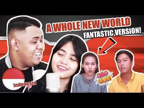 Download Hanin Dhiya & Andmesh - A Whole New World   REACTION Mp4 baru