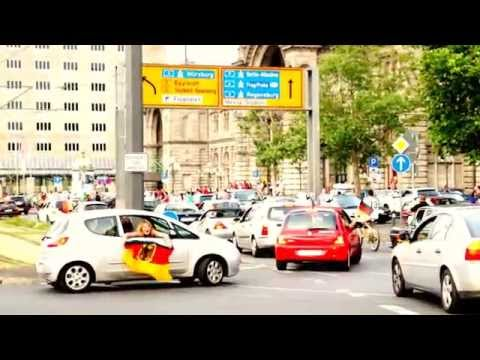 Funky Traffic Jam in Germany of Europe