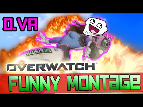 OVERWATCH: Funny Moments 1! D.VA GETS PHARAHNOID! [Overwatch Montage]