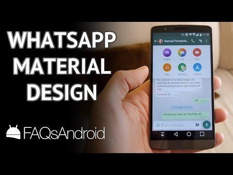 WhatsApp para Android se actualiza con Material Design