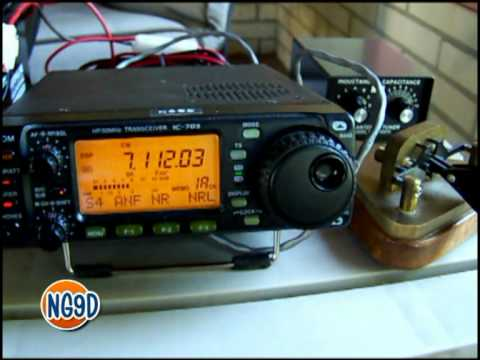 Icom 703 Portable CW + EF-Wire Antenna