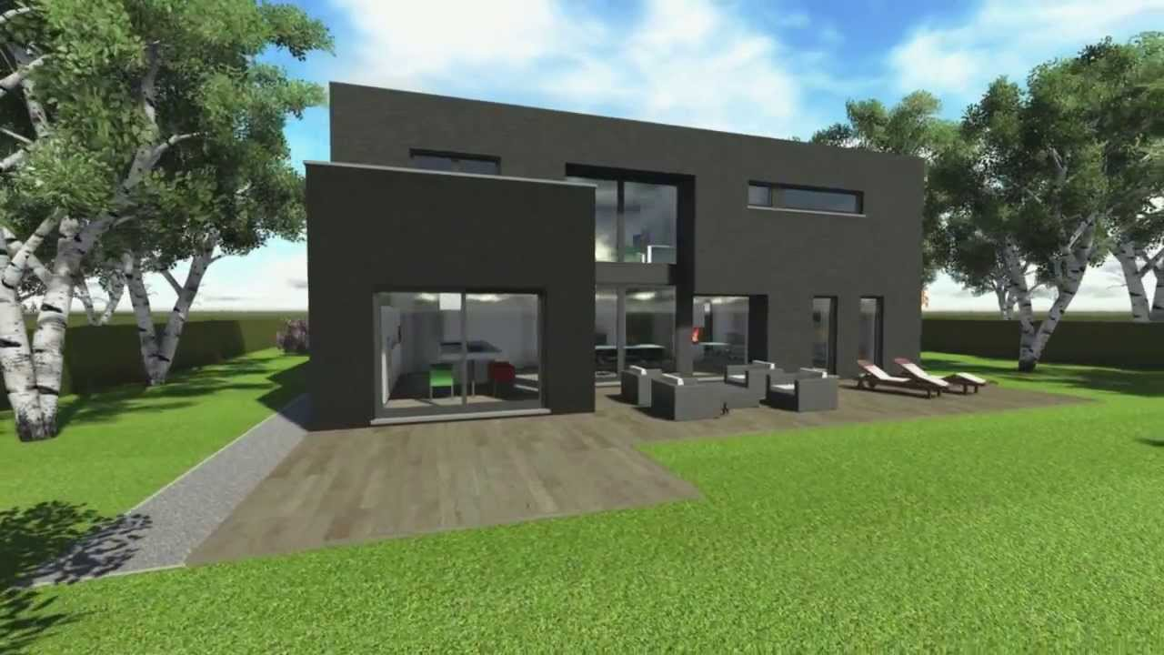 Animation 3d construction d 39 une maison d 39 habitation for Plans maison 3d