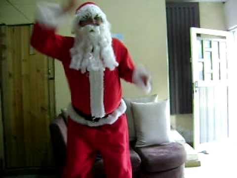 papa noel bailando tecktonik
