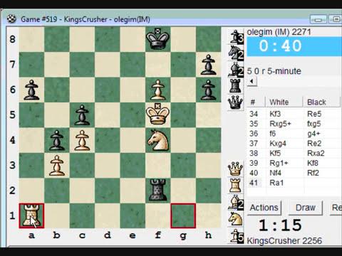 Chess World.net: Blitz #210 vs IM olegim (2271) - Sicilian Defense : Pelikan, Chelyabinsk variation