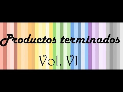 Productos terminados Vol. VI