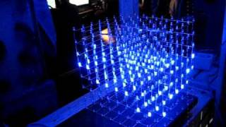 8x8x8 Led cube wave fun