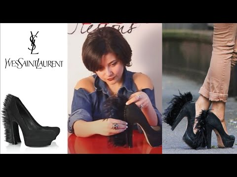 0 Fashion Attack : how to make YSL feather high heels DIY