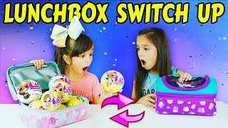 The LUNCHBOX SWITCH UP Challenge! LOL Surprise Toys vs Real Food