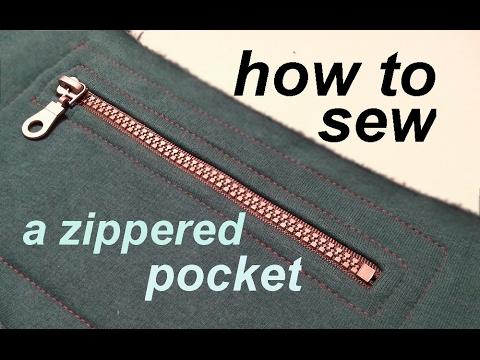 DIY ✂ How To Sew A Zippered Pocked ✂ Jak Uszyć Kieszonkę Na Zamek