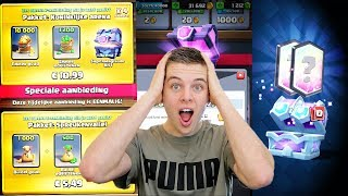 GROOTSTE CHEST OPENING OOIT!! CLASH ROYALE NEDERLANDS
