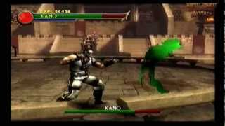 Kano Vs Shung Tsung *Bosses Fixed Code* (Ps2 Mortal Kombat: Shaolin Monks)