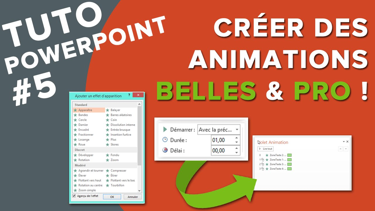 tuto powerpoint  5 - comment cr u00e9er de belles animations pro     bonus