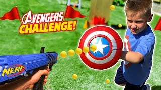 Avengers NERF Survival Challenge! Super Hero Gear Test & Toys Review for Kids!