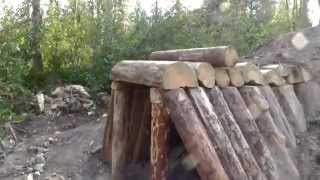 A student-built First Nations pit house at UNBC