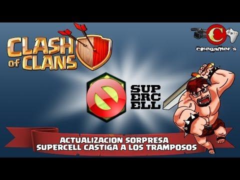 Clash of Clans | Actualización Sorpresa | SuperCell castiga a los TRAMPOSOS