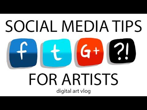 9 Websites to Promote your Art - Digital Artist Vlog