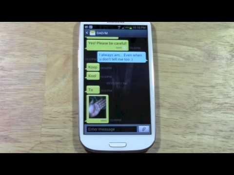 Galaxy S3 (Slll) - How to Fix Text Message Downloading Error   H2TechVideos