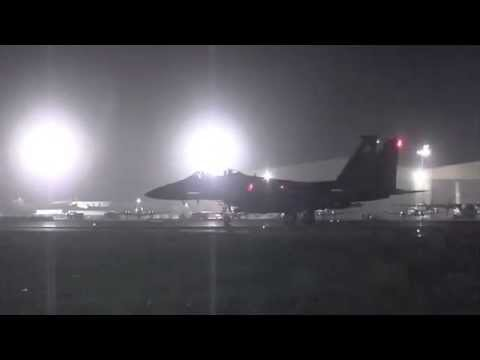 F-15 Missions at Bagram Airfield, Afghanistan (HD)