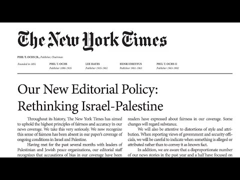 Jewish Peace Groups Reveal Role in Spoof New York Times That Criticized Paper's Stance on Israel