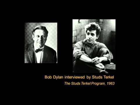 A Young Bob Dylan Talks And Plays On
