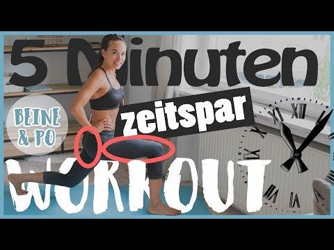 5 Minuten WOHNZIMMER WORKOUT - Kurz und intensiv - Beine und Po trainieren - HIIT Workout 1/4