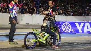 ganas ninja thailand 1200m   Drag bike   wisata malam 500m   thailand drag bike   ninja 300cc  