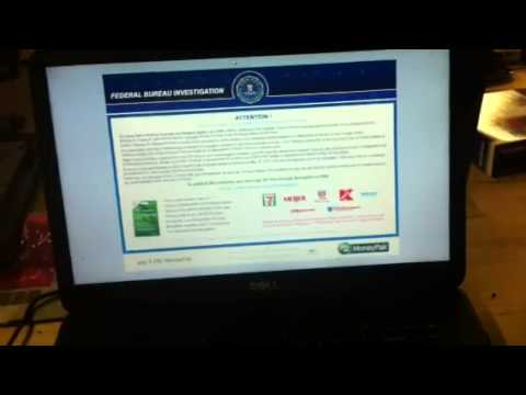 How to delete or remove the Fake FBI virus!