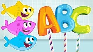 Baby Shark ABC Time Song + More Nursery Rhymes Cartoons for Children by OneKid TV