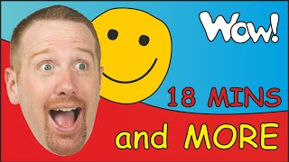 How Are You Kids? + MORE | English funny Stories for Children with Steve and Maggie | Feelings Song