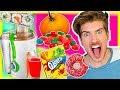 JUICING RANDOM FOODS! (EXTREME TASTE TEST)