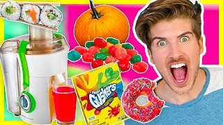 JUICING RANDOM FOODS! (EXTREME TASTE TEST)